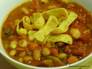 Three Bean Hominy Chili