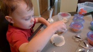 Play Dough Pledge from Feeding My Kid